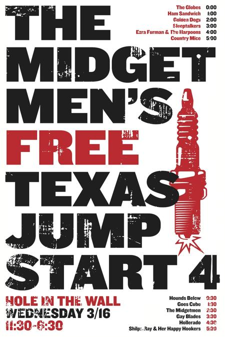 The Midgetmen's Texas Jumpstart 4 w/ Ezra Furman, Shilpa Ray, Hollerado and More (Free w/ RSVP on Do512)