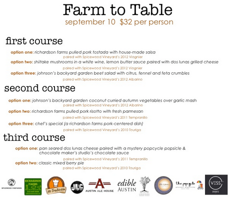 Farm to table in austin at austin ale house for Table 9 menu