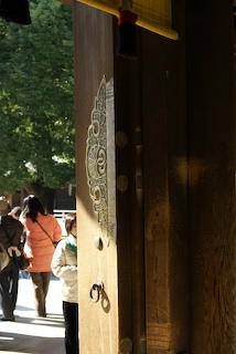 Main door leading into Meiji Jingu