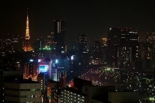 Tokyo Tower from the Shinagawa Prince Hotel