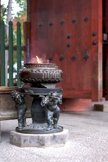 Incense burner at Toudai-ji