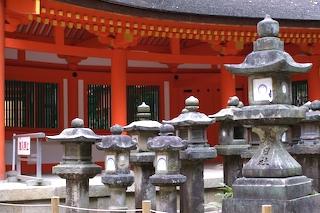Lanterns donated to Kasuga Taisha, Nara