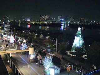 the view from Decks, Odaiba