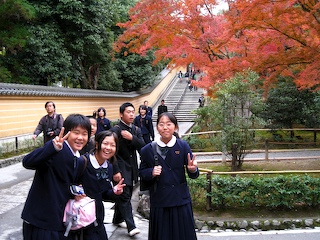 schoolkids at Kasuga Shrine, Kyoto