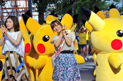 Asami Konno, with Pikachus