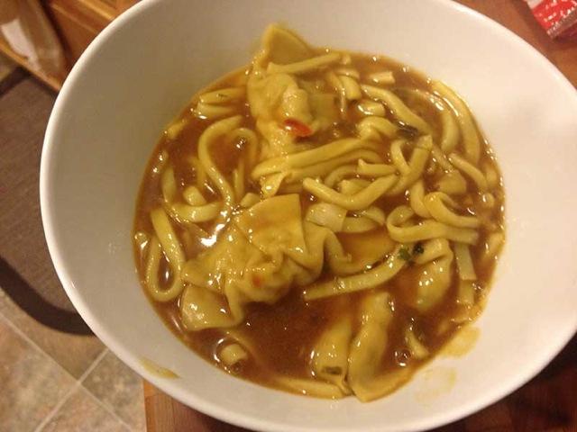 Gyoza curry udon