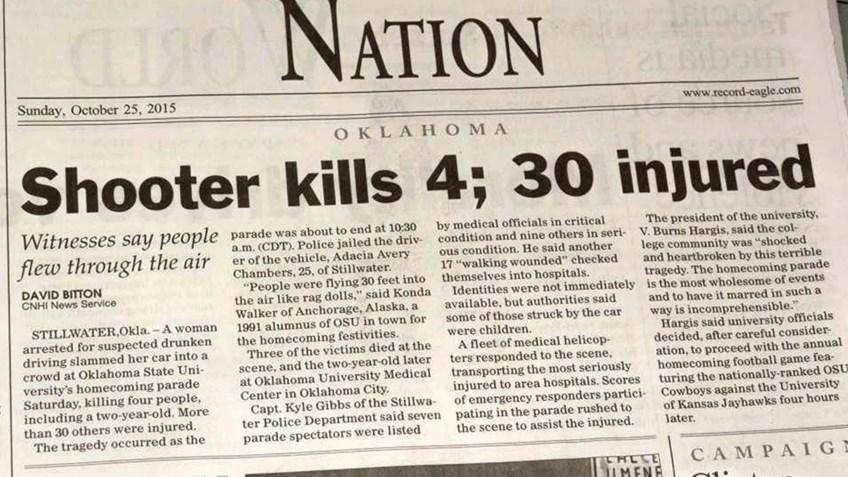 revealing headline