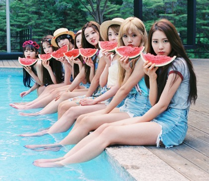 Oh My Girl w/ watermelon