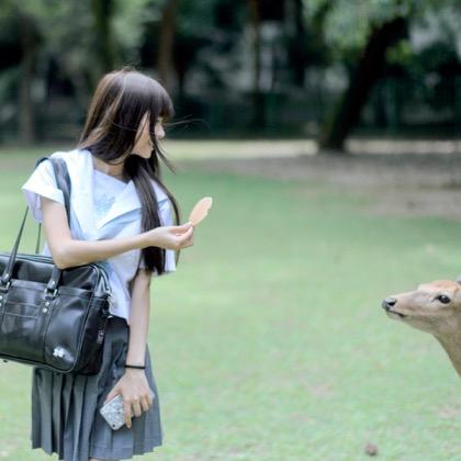 Schoolgirl versus sacred deer