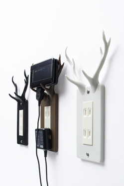 Electrical socket with antlers