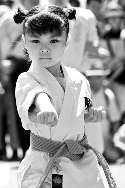'Karate girl, by Vincent Ricco