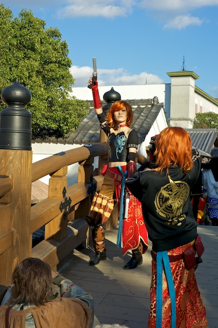 Cosplay gunslinger at Toei Studio Park, Kyoto