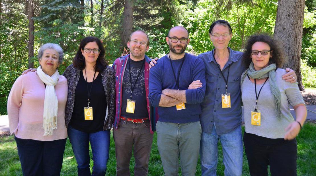 Lillian Benson, Laura Poitras, Nels Bangerter, Robert Greene, Jonathan Oppenheim, Joelle Alexis. © Sundance Institute | Jonathan Hickerson