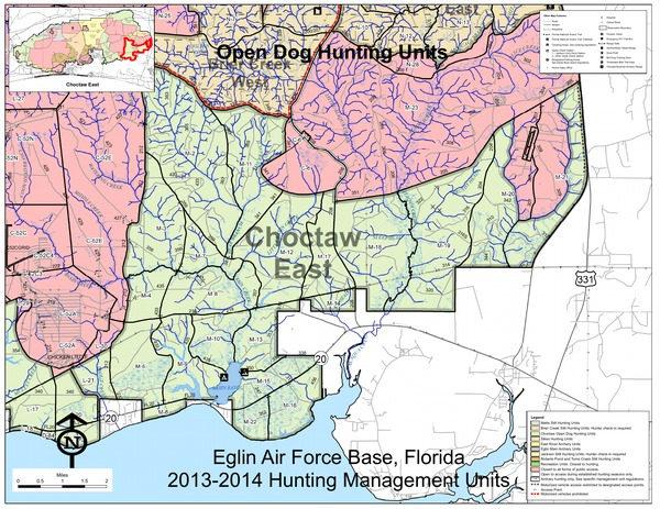 Eglin Afb Map Eglin Afb Hunting Map