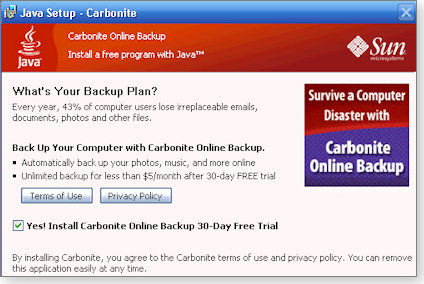 Carbonite backup software trial offer