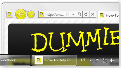 Dummies.com pinned to my win7 taskbar