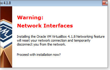 Net interface warning
