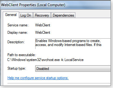 WebClient control window