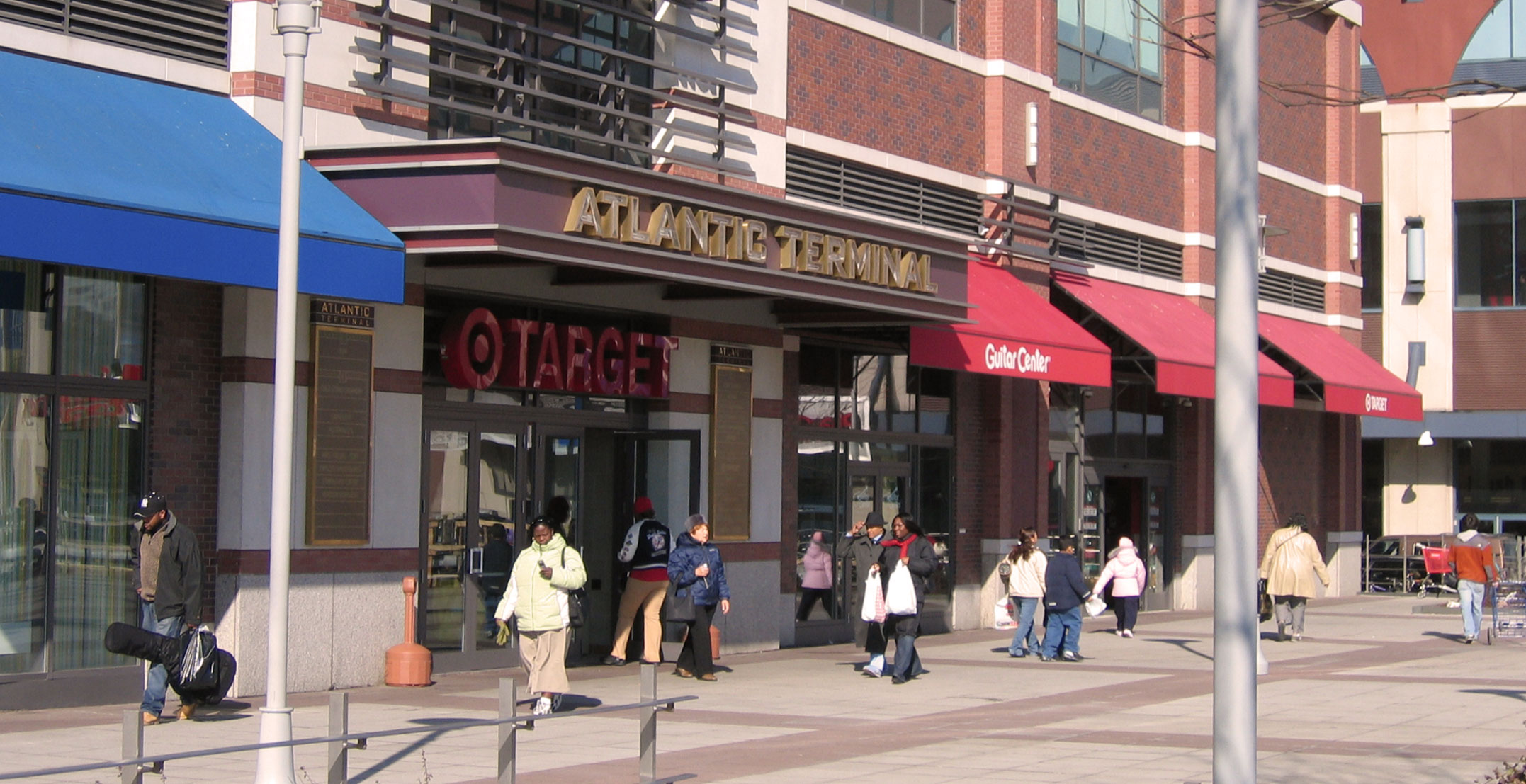 Atlantic Terminal is a shopping mall located on Atlantic Avenue surrounded by Hanson Place, Fort Greene Place and Flatbush Avenue in the Fort Greene section of Brooklyn, New York. It is located across the street from the older Atlantic Center Mall (via a small enclosed bridge from Target) which was developed by the same real estate company.
