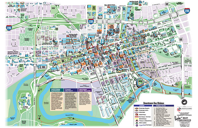Downtown Des Moines Map