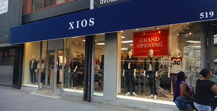 Xios clothing store in brooklyn