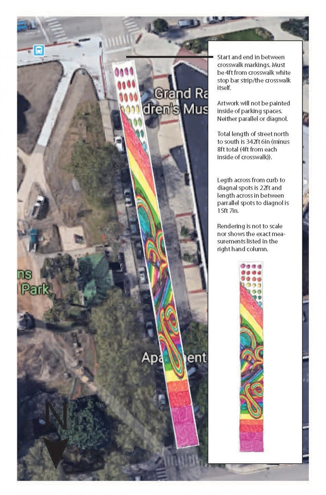 Proposed Design for the Sheldon Boulevard Pride Mural by Joey Salamon