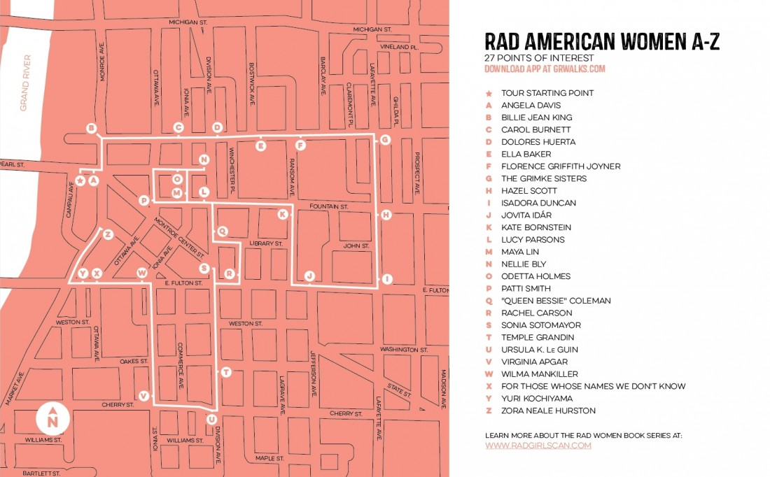 The walking tour map with all locations of painted electrical boxes