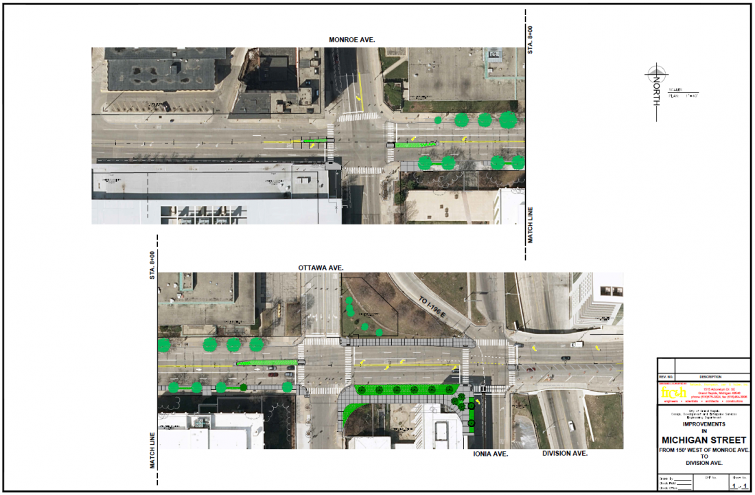 Michigan Street Improvements from Monroe Ave. to Ionia Ave.