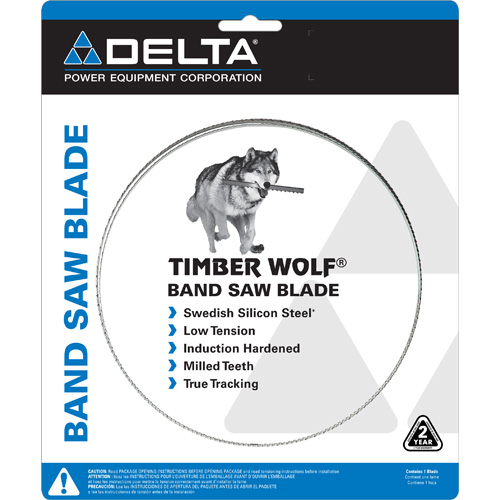 28-109 Timber Wolf® Band Saw Blade: 111 in. x 1/4 in. x 4 TPI PC Series