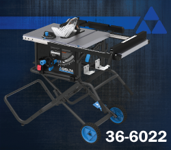 10 in. Portable Table Saw w/ Stand