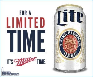 Miller Light throwback can 102.9 The Buzz