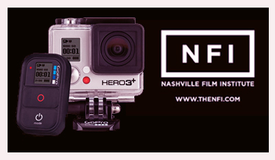 Go Pro Camera and Nashville Film Institute logo