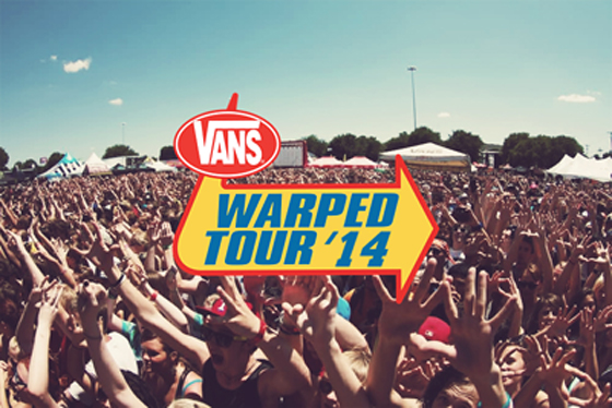 Warped Tour photo with logo