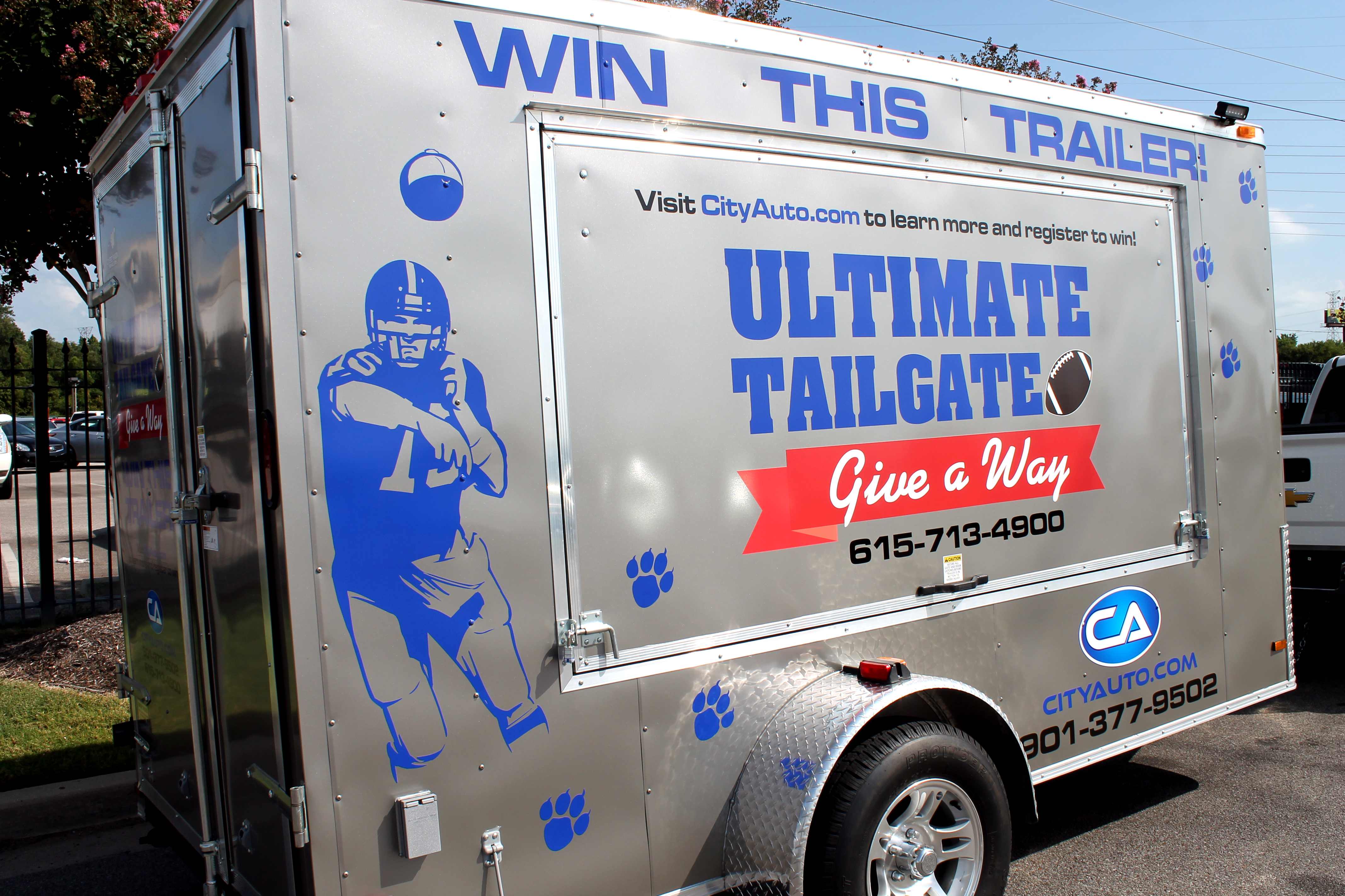 City Auto Tailgate Trailer 102.9 The Buzz