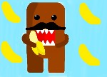 Drawing: Domo Eating A Banana