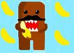 Drawing: Domo Eating A Banana