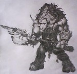 Drawing: tauren