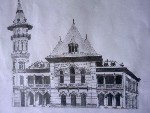 Drawing: Buzau Comunal Palace