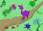 Drawing: Imaginary Garden Path