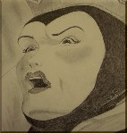 Drawing: The Evil Queen from Snow White
