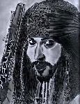 Drawing: Jack Sparrow.