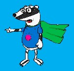 Drawing: Super badger!