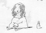 Drawing: Baby Mona