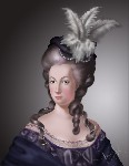 Drawing: Tribute to Marie Antoinette