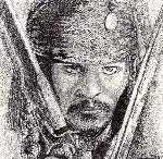 Drawing: Captain Jack Sparrow