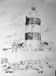 Drawing: Hook lighthouse Ireland. Pencil