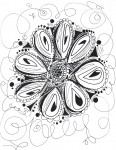 Drawing: Flower line design
