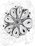 Drawing: Flower line design
