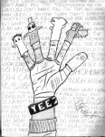 Drawing: Hand of Yeezy