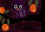 Drawing: Orange Tree Owl